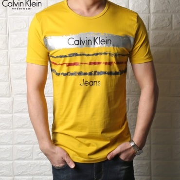 Calvin Klein T-shirts yellow for Men