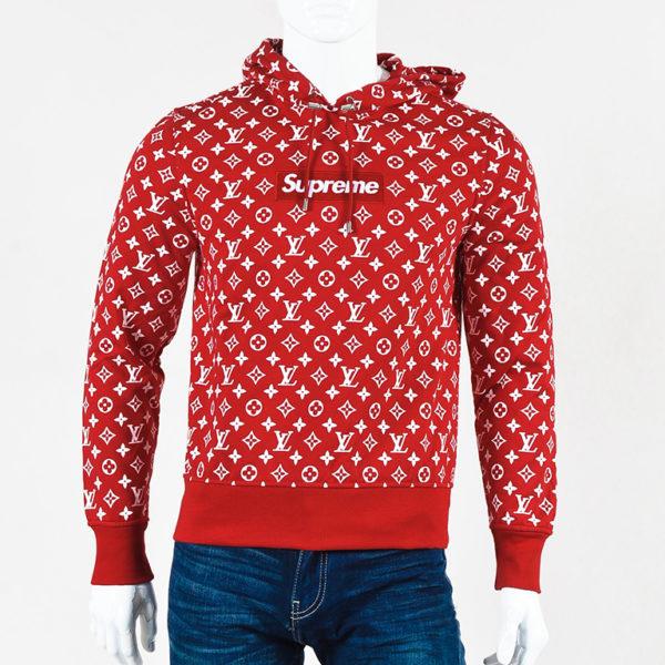 SUPREME X LV Hoodie Red sweatshirt