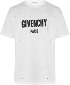 Givenchy Paris Tshirt hole Designer 2017 shirt