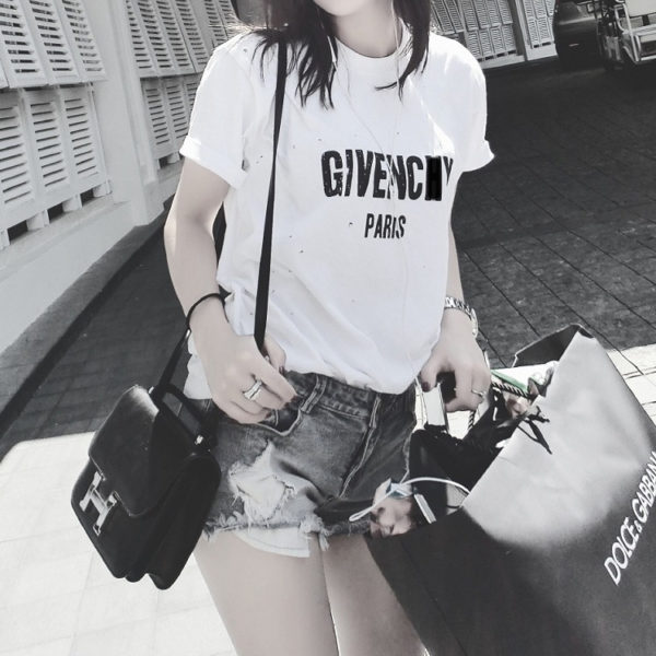 Givenchy Paris Tshirt hole Designer 2017