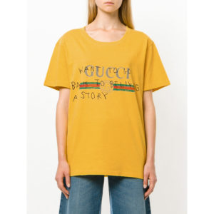 Gucci coco capitan yellow Hot letters print T-shirt top replica