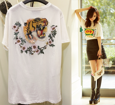 Top Tee Tiger Embroidered
