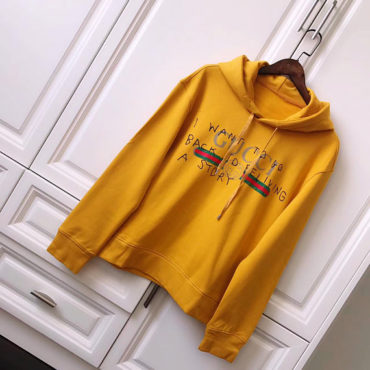 fake Hoodie Gucci Coco Capitán logo sweatshirt Oversized yellow