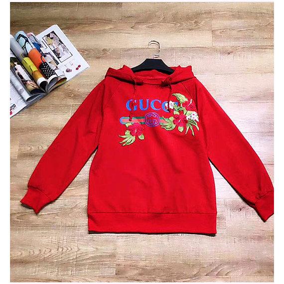 Hoodie  floral embroidered logo sweatshirt Oversized