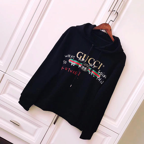7a4af2cf2 Black Hoodie Coco Capitán Phrase sweatshirt Oversized