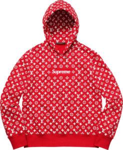 Supreme Hoodie x LV Supreme Hooded sweatshirt hot