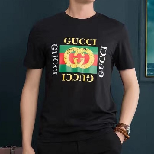 d6082324287 T-shirt Slim-Fit Distressed Printed Cotton-Jersey. Gucci ...