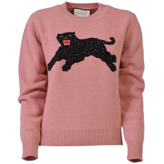 Fashion Lady Beaded Wool Sweater