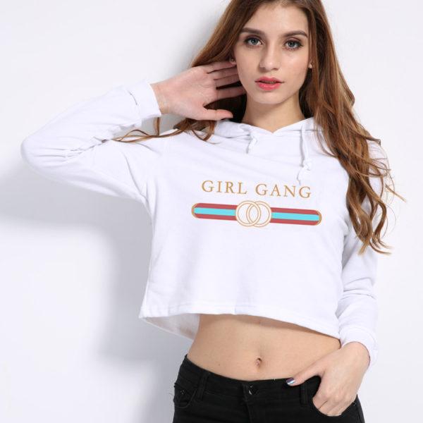 Girl Gang letter Print Sweatshirt Hipster
