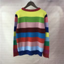 TIGER EMBROIDERED RAINBOW WOOL SWEATER IN MULTICOLOUR