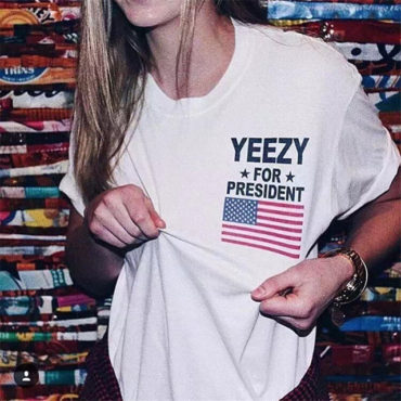 Yeezy for president USA Flag Top tee
