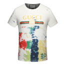 Tshirt Cotton tie-dye with printed Gucci logo