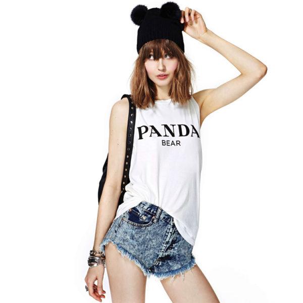 Panda Bear Tank street style