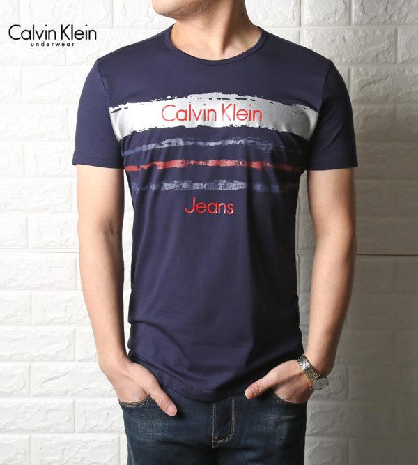 d8779e223b35 T-shirt Ck Blue for Men short sleeve shirt ck original