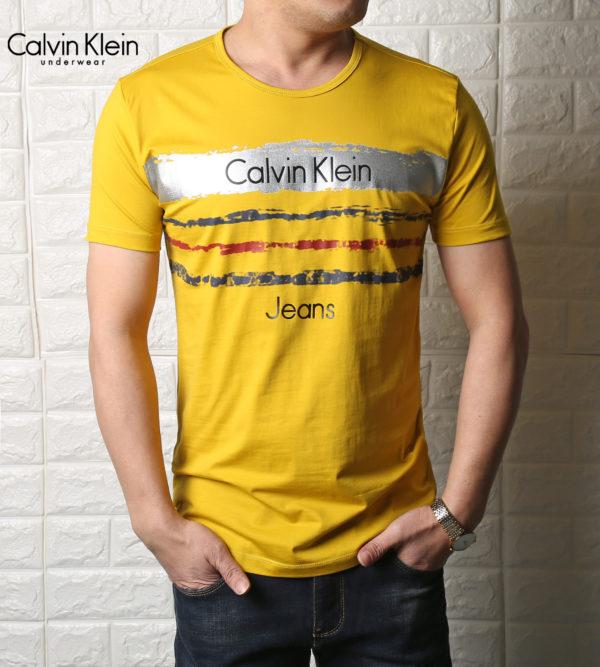 65c74c8e051f T-shirt Ck yellow for Men short sleeve shirt for mens