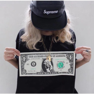 replica Supreme Dollar TEE SHORT-SLEEVED T-SHIRT