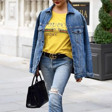 "Gucci coco capitan ""I want to go back to beliving a story"" Phrase yellow Tee"