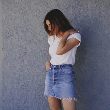 ew Skirt Denim look fashion