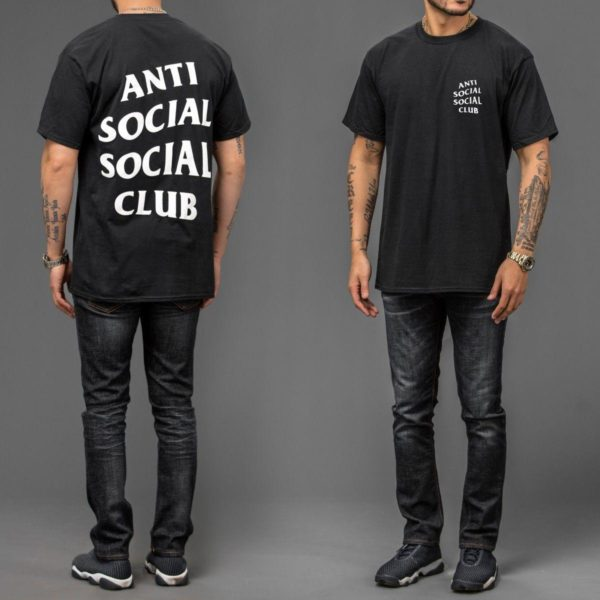 1c26c195a61f T SHIRT ANTI SOCIAL CLUB LETTER PRINTED ASSC TOP TEE MENS