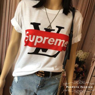 supreme x louis vuitton logo shirt fake