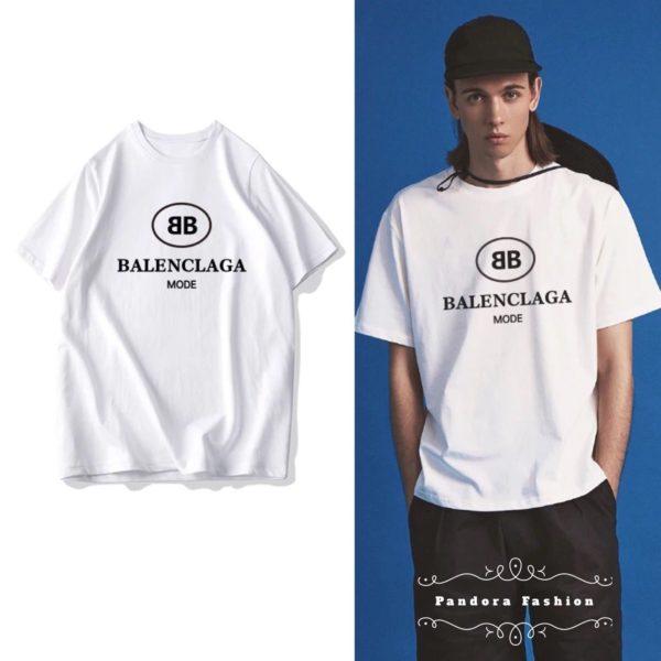 629622b5835c BB balenciaga mode t-shirt mens black white cheap germany